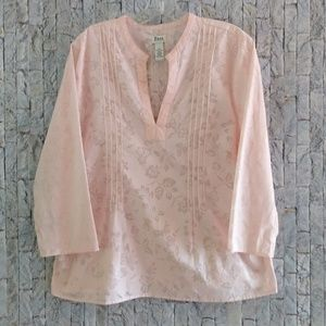 Bass Pink 3/4 Sleeve Blouse Size Large